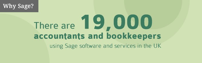 19,000 Accountant & Bookkeepers use Sage - Sage Banner