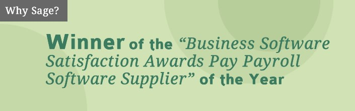 Winner of the 'Business Software Satisfaction Awards Pay Payroll Software Supplier' of the Year