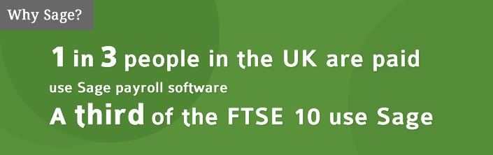 1 in 3 people in the UK are paid using Sage Payroll Software