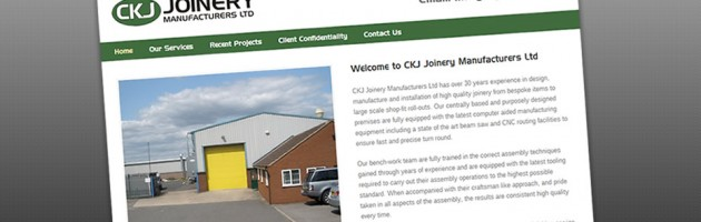 CKJ Joinery Web Print Screen
