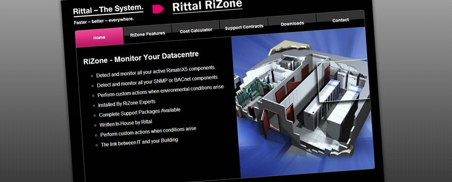 Rittal RiZone Web Print Screen